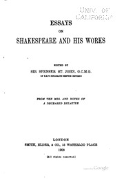essays on thinking and plainspeaking introductory essays  essays on shakespeare and his works