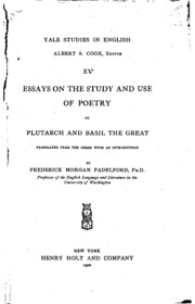 the validity of plutarch essay Plutarch, the new testament studies on hellenistic and early imperial philosophy led to renewed reflection on the validity of the this essay surveys some of.