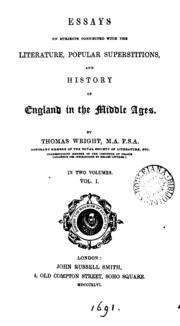 essays on subjects connected the literature popular  essays on subjects connected the literature popular superstitions and history of england