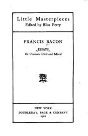 the essays or counsels civil and moral francis bacon