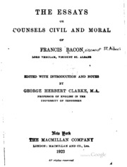 essays civil and moral