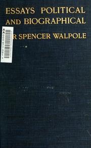 Walpole essay