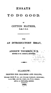 cotton mather essays good In this primary document, cotton mather,  requested sample on topic: analysis of the wonders of the invisible world essay sample your e-mail goes send.
