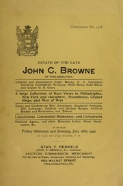 Estate of the Late John C. Browne of Philadelphia