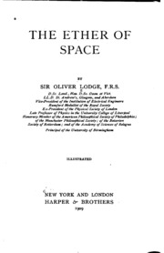 The Ether of Space