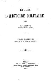 Etudes d-histoire militaire