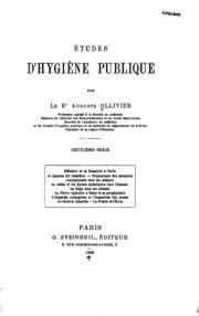Etudes d-hygiène publique. v.2, 1888