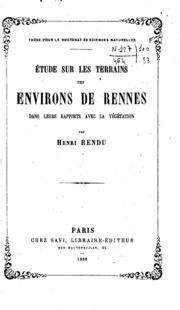Etude sur les terrains des environs de Rennes dans leurs rapports avec la ...