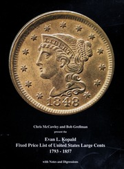 Evan L. Kopald Fixed Price List of United States Large Cents 1793-1857