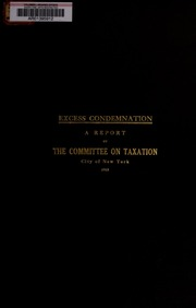 Excess condemnation: a repo...