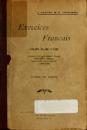 Exercices français, cours élémentaires