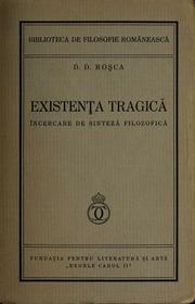 Existenta tragica : încercare de sinteza filosofica