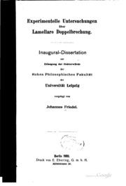 Experimentelle Untersuchungen über lamellare Doppelbrechung...