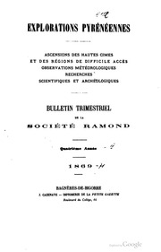 Explorations pyrénéennes : bulletin trimestriel de la Société Ramond