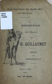 Exposition des oeuvres de G. Guillaumet : au profit d-un monument à élever à la mémoire de F. Bonvin