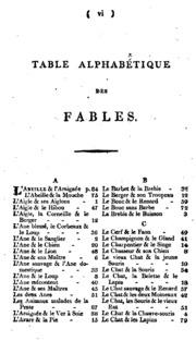 Fables amusantes avec une table générale et particulière des mots et de leur signification en ...