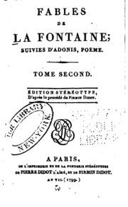 Fables De La Fontaine Suivies Dadonis Poème Jean De