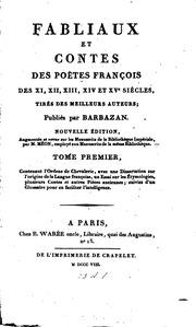 Fabliaux et contes des poètes françois des XI, XII, XIII, XIVe et XVe ...