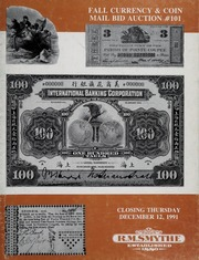 Fall Currency & Coin Mail Bid Auction #101