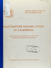 Implementation of the Alquist-Priolo Earthquake Fault ...