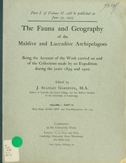 The fauna and geography of the Maldive and Laccadive archipelagoes : being the account of the work carried on and of the collections made by an expedition during the years 1899 and 1900, v.1, pt.4