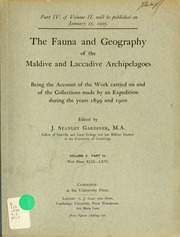 The fauna and geography of the Maldive and Laccadive archipelagoes : being the account of the work carried on and of the collections made by an expedition during the years 1899 and 1900, v.2, pt.3