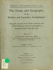 The fauna and geography of the Maldive and Laccadive archipelagoes : being the account of the work carried on and of the collections made by an expedition during the years 1899 and 1900, v.2, pt.4