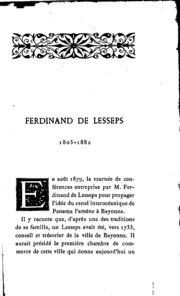 F. de Lesseps
