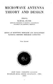 Electronics Microwave Antenna Theory And Design Free Borrow Streaming Internet Archive