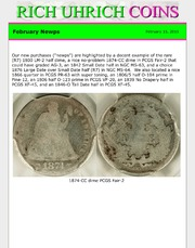 February 2015 - - Newps, plus What Else is Rich Uhrich Rare Coins Doing?