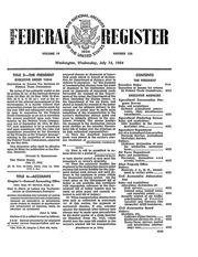 Federal Register (July 14, 1954)