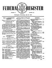 Federal Register (July 21, 1954)