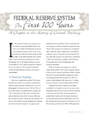 Federal Reserve System: The First 100 Years