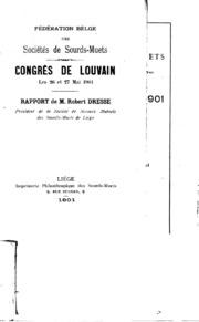 Federation Belge des Sociétés de Sourds-muets: Pamphlet vol.