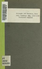 Ferdinand Raimund : eine Erinnerung und eine Mahnung