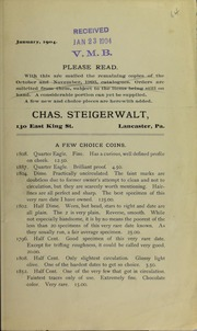 A Few Choice Coins, January 1904