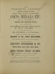 The Fewsmith Cabinet of Foreign and American Silver and Copper Coins, Medals, Etc.
