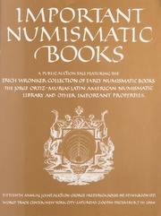 Important Numismatic Books: 15th Annual Joint Auction with Spink & Son Ltd.
