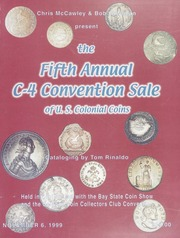 Fifth Annual C-4 Convention Sale of U.S. Colonial Coins