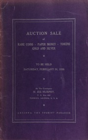 Fifth auction sale : catalogue of rare coins, tokens, paper money, miscellaneous gold and silver ... [02/26/1938]