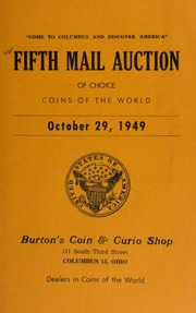 Fifth mail auction of choice coins of the world. [10/29/1949]