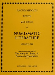 Fiftieth Mail Bid Sale of Numismatic Literature