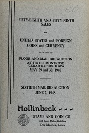 Fifty-Eighth and Fifty-Ninth Sales of United States and Foreign Coins and Currency