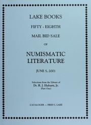 Fifty-Eighth Mail Bid Sale of Numismatic Literature