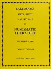Fifty-Fifth Mail Bid Sale of Numismatic Literature