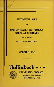 Fifty-Fifth Sale of United States and Foreign Coins and Currency