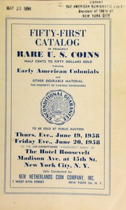 Fifty-first catalog of primarily rare U. S. coins. [06/19-20/1958] (pg. 63)