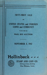 Fifty-First Sale of United States and Foreign Coins and Currency