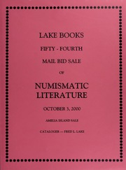 Fifty-Fourth  Mail Bid Sale of Numismatic Literature