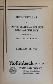 Fifty-Fourth Sale of United States and Foreign Coins and Currency